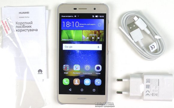 Huawei Y6 Pro Gold + карта