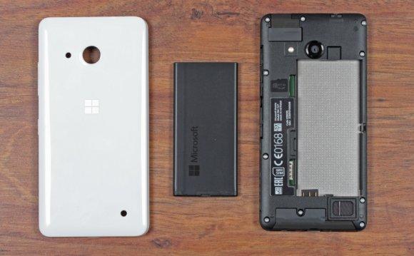 Lumia 550 - съемные
